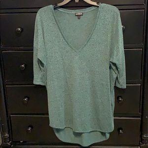 Turquoise heather sweater